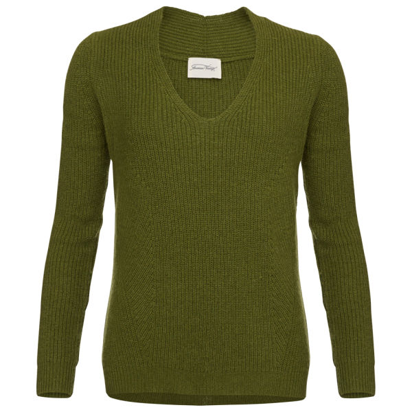 American Vintage Purl Stitch Knitted Jumper - Military