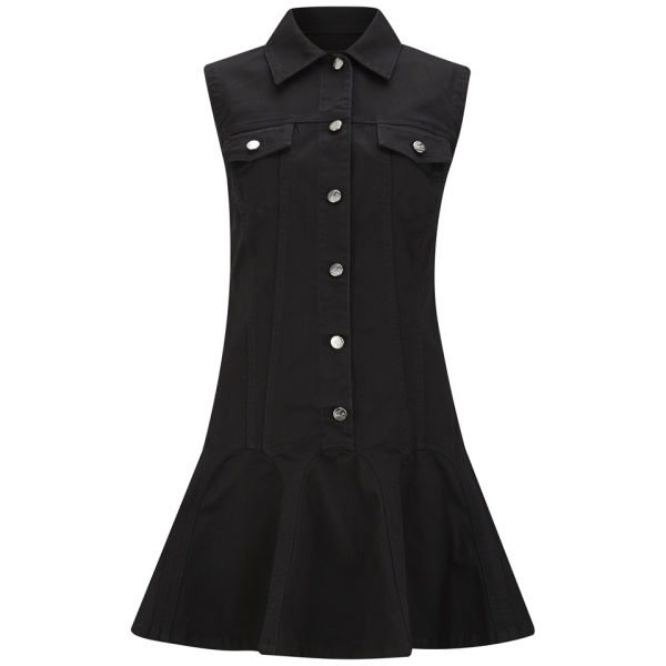 McQ Alexander McQueen Women's Denim Ruffle Dress - Black