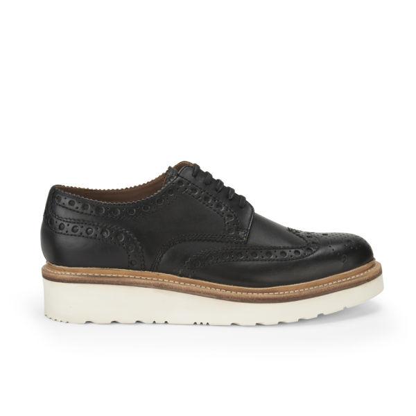 Grenson Men's Archie V Leather Brogues - Black