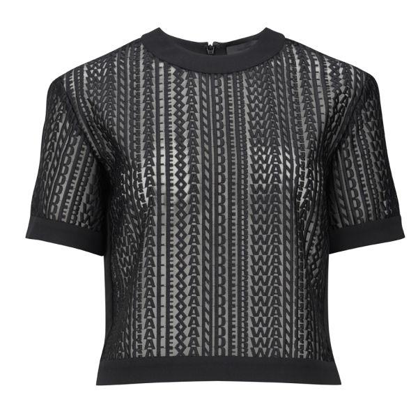 Alexander Wang Women's Boxy Logo T-Shirt - Black