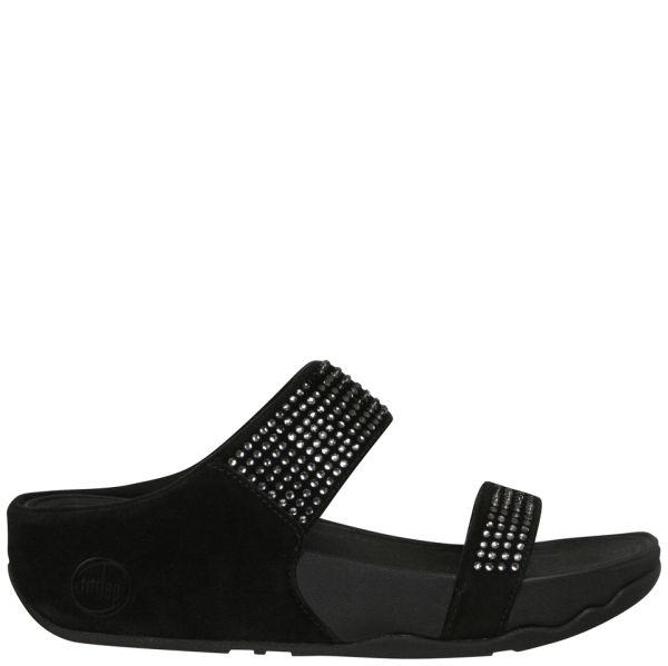 FitFlop Women's Flare Slide Sandals - Black