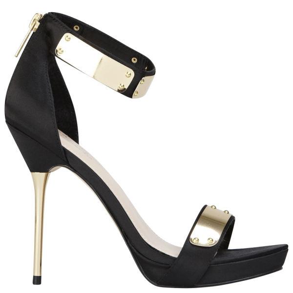 Carvela Women's Glide Satin Heeled Sandals - Black