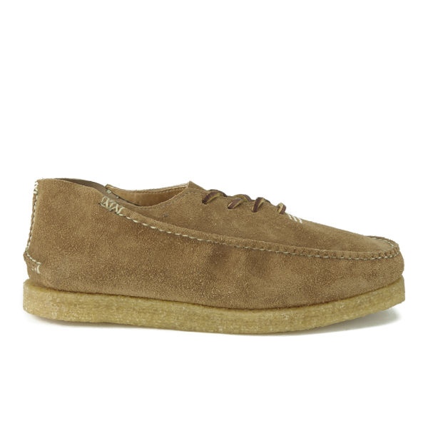 Yuketen Men's Stream Moc Oxford Leather Lace Up Creepers - Brown