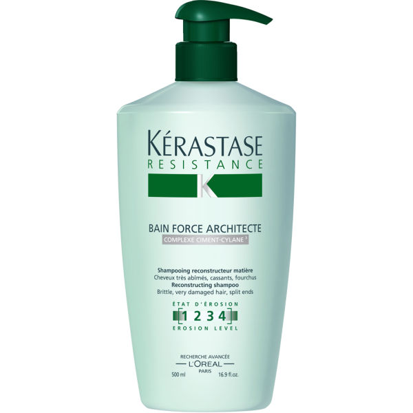 K rastase resistance bain force architecte 500ml free for Kerastase bain miroir shine
