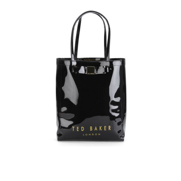 Ted Baker Womens Solcon Bow Plastic Large Tote Bag Black