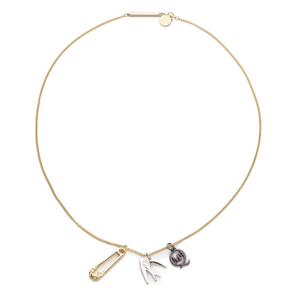 McQ Alexander McQueen Charm Necklace - Light Shiny Gold