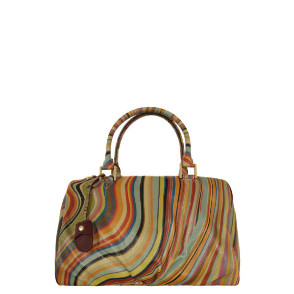 Paul Smith Accessories Women's 2909-V26 Large Aqua Multi Bag - Swirl