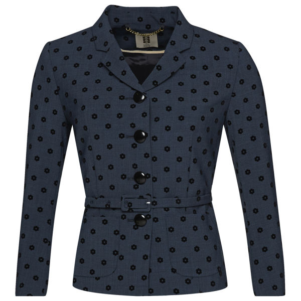 Orla Kiely Women's Polka Daisy Flock Jacket - Ink
