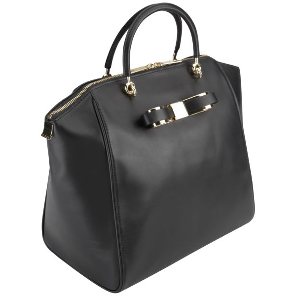798a942cc8864 Ted Baker Barrico Slim Bow Large Leather Wing Tote Bag - Black