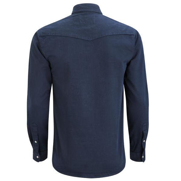 Jack & Jones Mens Lander Shirt   Dress Blue      Mens Clothing