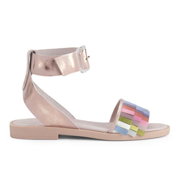 Miista Women's Saira Leather Sandals - Metallic Pink