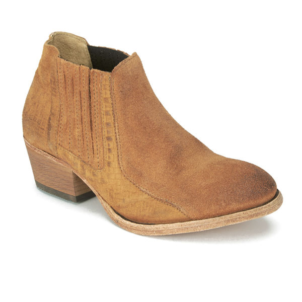 h shoes by hudson s emmett suede heeled ankle boots
