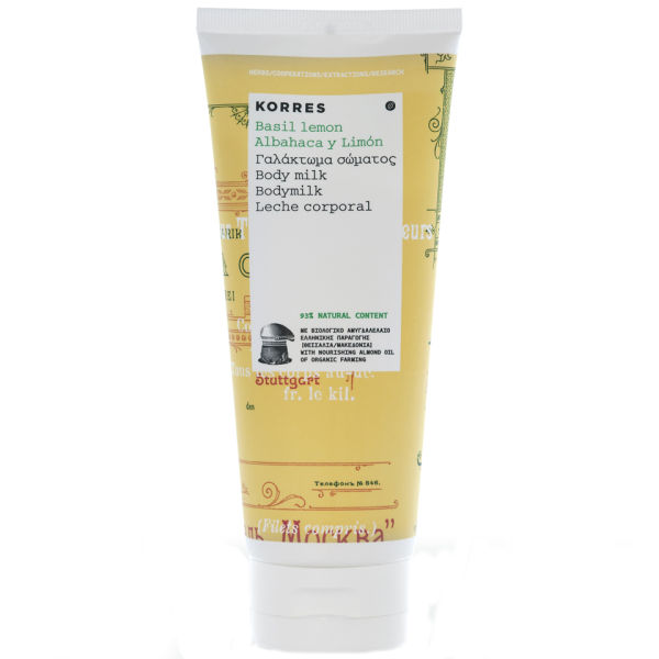 Korres Basil Lemon Body Milk (200ml)