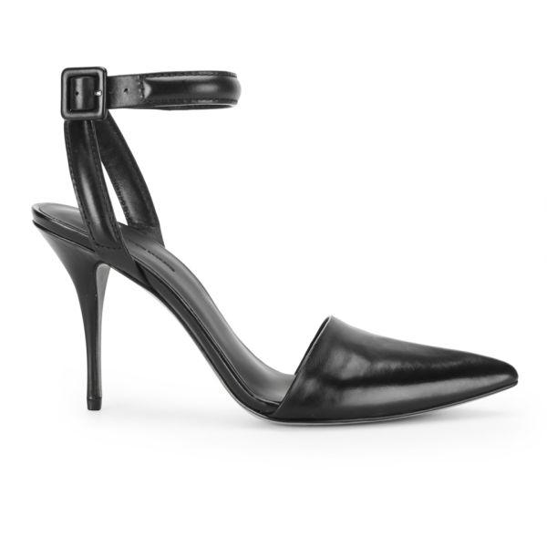 Alexander Wang Women's Lovisa Ankle Strap Leather Heels - Black