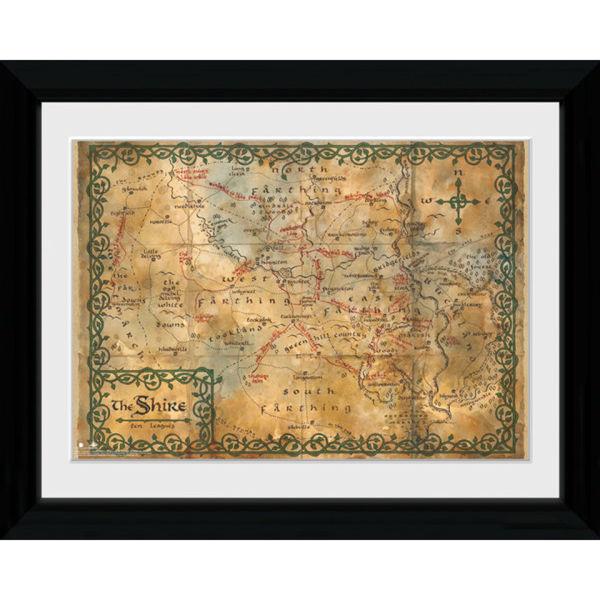 The Hobbit Map - Collector Print - 30 x 40cm
