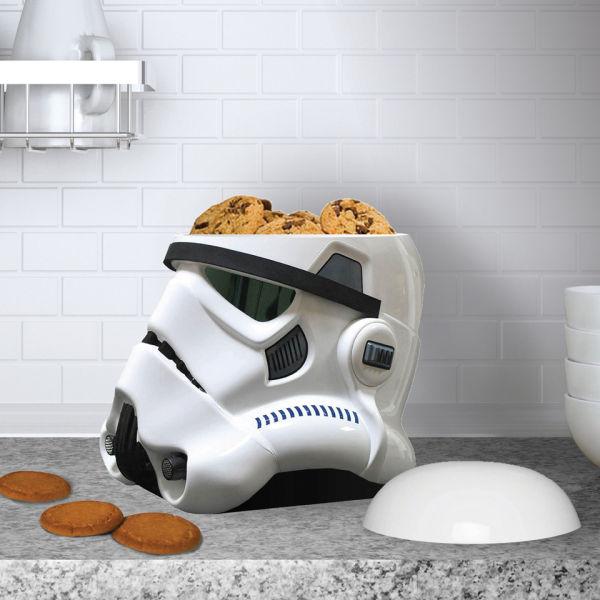 Star wars stormtrooper cookie jar black white iwoot - Stormtrooper cookie jar ...
