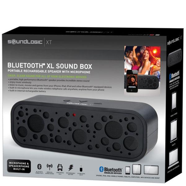 soundlogic bluetooth xl sound box portable speaker in black electronics. Black Bedroom Furniture Sets. Home Design Ideas