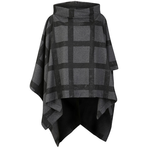 Vivienne Westwood Anglomania Women's Gaia Cape - Black Check On Grey