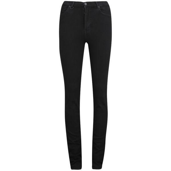 NEUW Women's Marilyn High Rise Skinny Jeans - Black Raw