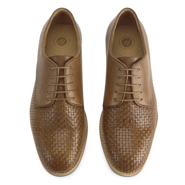 Shoes by Hudson Men's Hadstone Leather Woven Shoes - Tan