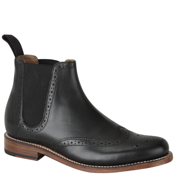 Innovative Grenson Womenu0026#39;s Jessie Brogue Chelsea Boots - Black - Free UK Delivery Over U00a350