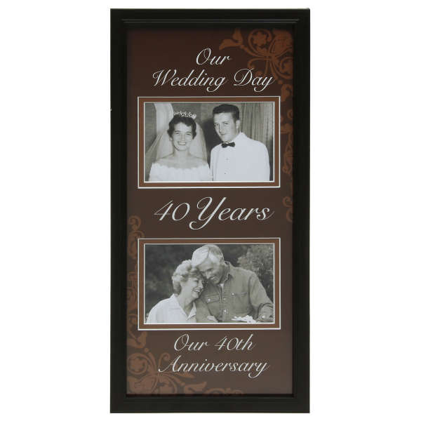 What Is The Traditional Gift For A 40th Wedding Anniversary: Moments Now And Then Picture Frame