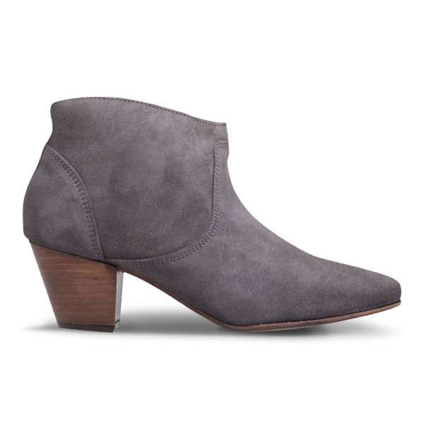 H Shoes by Hudson Women's Mirar Suede Heeled Ankle Boots - Grey