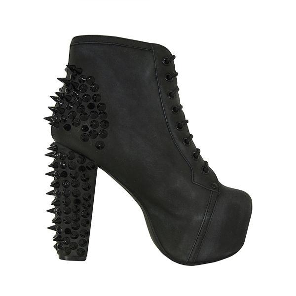 Jeffrey Campbell Women's Lita Spike Shoes - Black On Black