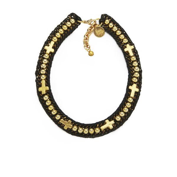 Venessa Arizaga Women's Into the Groove Necklace - Black/Gold