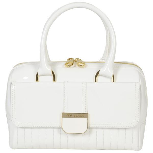 ab9571d9e1c » Ted Baker Women's Marquez Quilted Enamel Mini Bowler Bag - White