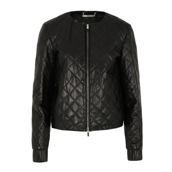 Diane von Furstenberg Women's Delilah Leather Jacket - Black