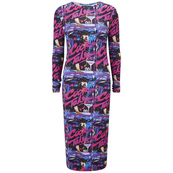 House of Holland Women's Midi Bodycon Stretch Print Dress - Cock Tale