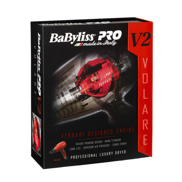 Babyliss Pro Volare V2 Red Compact Dryer Free Delivery