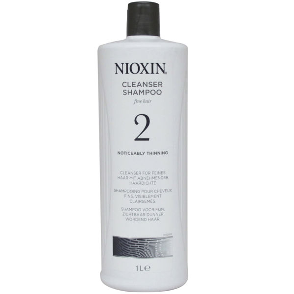 NIOXIN System 2 Cleanser Shampoo for Noticeably Thinning Natural Hair ...