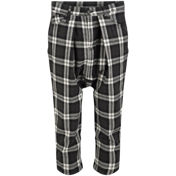 R13 Women's Vintage Harem Trousers - Black Plaid