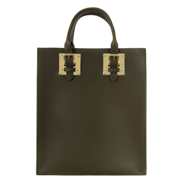 Sophie Hulme Women's Structured Buckle Tote Bag - Khaki