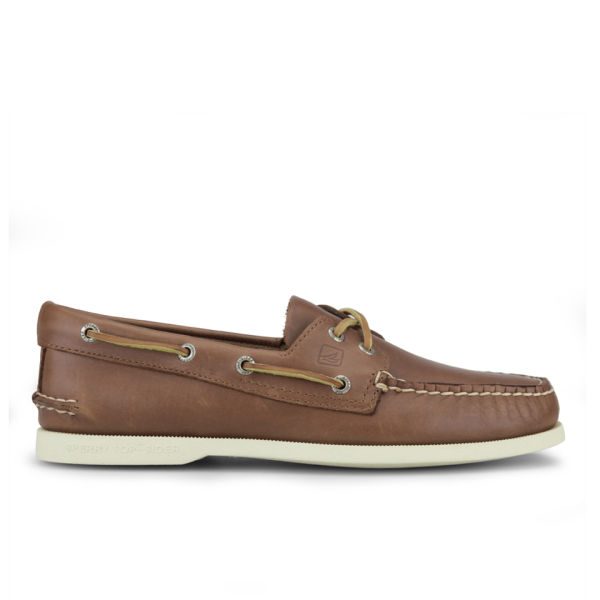 Sperry Sperry Men's A/O 2-Eye Leather Boat Shoes - Tan - UK 8