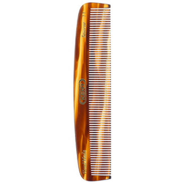 Kent Tortoiseshell Effect Fine Pocket Comb - Medium (7T)