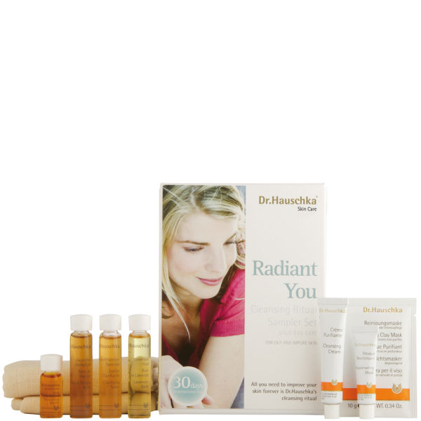 dr hauschka dr hauschka radiant you sampler set oily skin free delivery. Black Bedroom Furniture Sets. Home Design Ideas