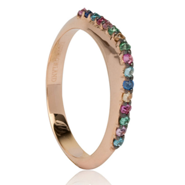 Katie Rowland Slice Embellished 18 CT Ring - Rose Gold