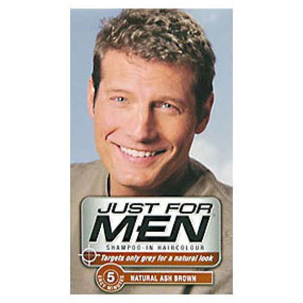 Just for Men Shampoo-In HairColor And then there's the Just for Men product line. With its natural advertising and well-known brand, this product line is among the better-known anti-graying tools in the marketplace today.