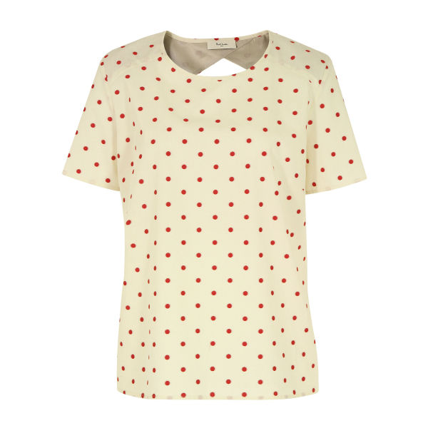 Paul by Paul Smith Women's F372 Polka Dot Blouse - Cream