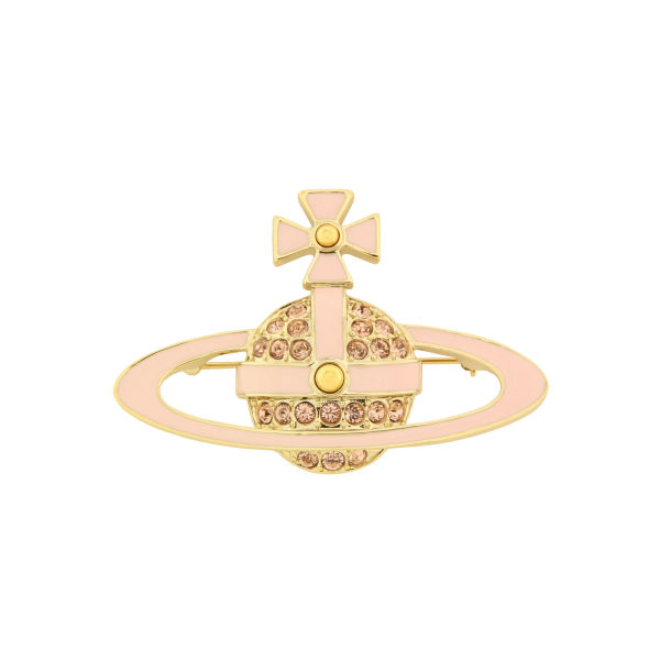 Vivienne Westwood - Jewellery Neil Bas Relief Imitation Gold Brooch