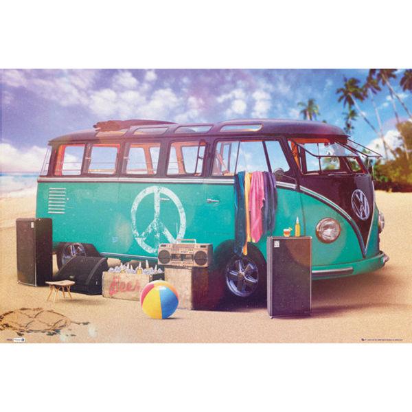 VW Camper Party - Maxi Poster - 61 x 91.5cm