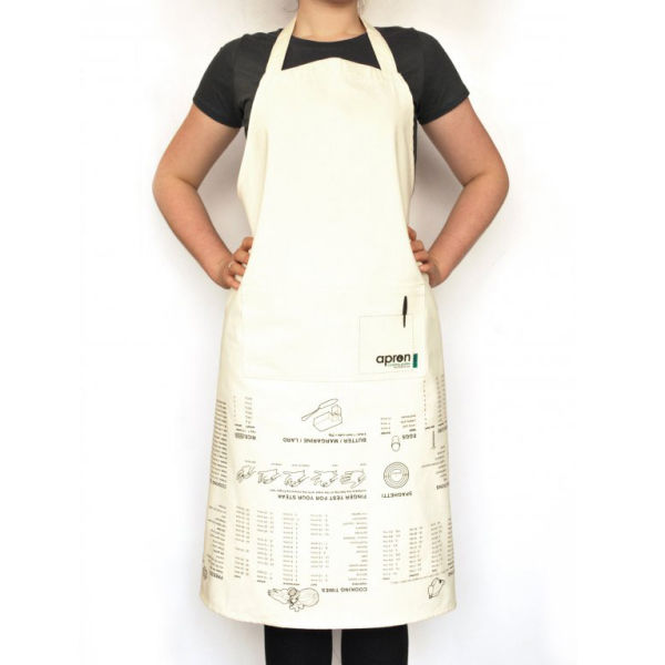 Kitchen Apron : Kitchen Apron with Cooking Guide Print IWOOT