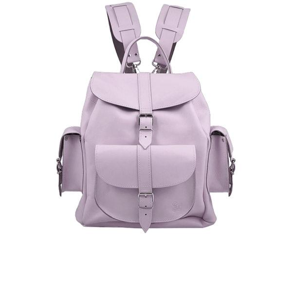 Grafea Lavender Medium Leather Rucksack - Lilac