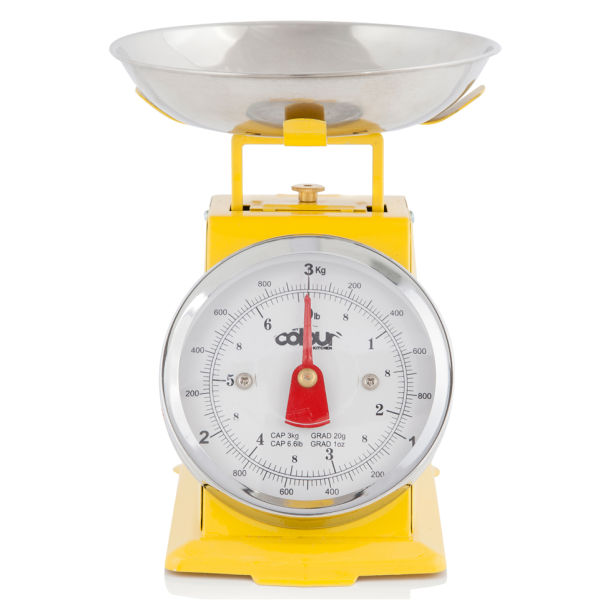 Cook In Colour 3kg Mini Traditional Kitchen Scales Yellow aanbieding
