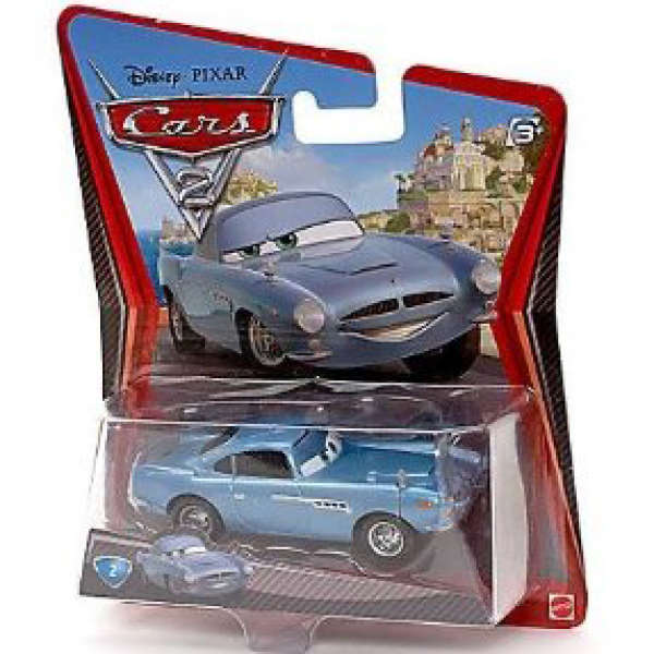 Finn Mcmissile Giocattolo Mattel Disney 1 55 Cars Auto: Cars 2: Character Pack Finn McMissile Toys