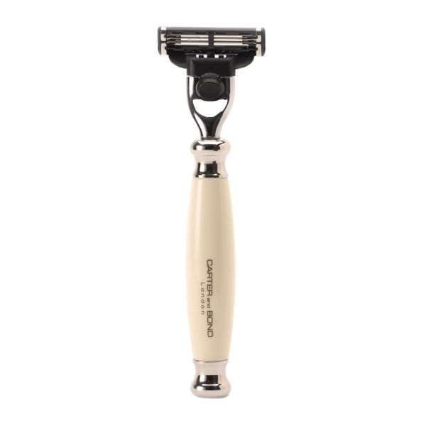 Carter and Bond Classic Faux Ivory Mach 3 Razor
