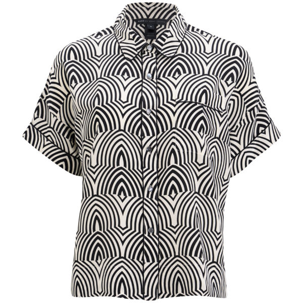 Marc by Marc Jacobs Women's Boxy Button Front Shirt - Agave Nectar Multi